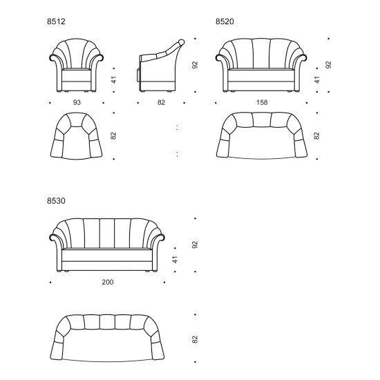 sofa und sessel haus koller josef hoffmann formsch n. Black Bedroom Furniture Sets. Home Design Ideas